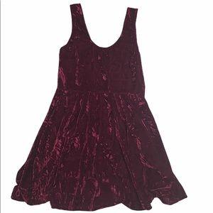 3/30Papillion red crushed velvet dress